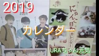 2019年カレンダー(バーチャル彼氏or子猫)