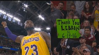 LeBron James Gets Standing Ovation From Cavaliers Crowd In Return To Cleveland! Lakers vs Cavaliers