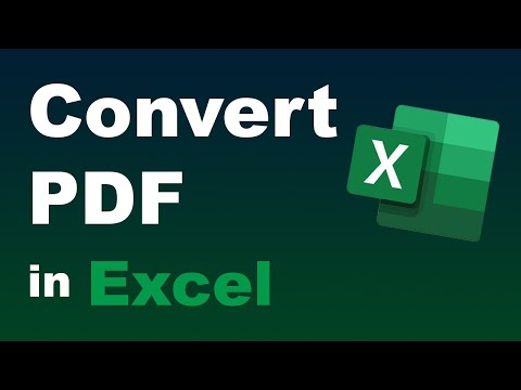 Convert PDF To Excel For Free (Best Method Without Software, Downloads Or Online Converters)