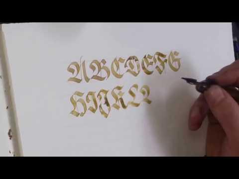 How to write Fraktur Capitals alphabet Calligraphy with FrakOne