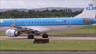 Plane Spotting at Manchester Airport Arrivals and Departures 29th August 2015 part 1
