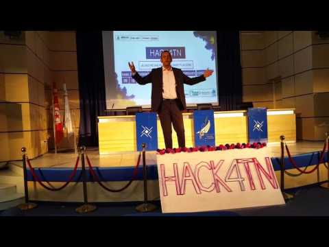 Mr Lotfi Saibi Conference during Hack4TN
