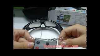 Mini DVR Cam Camcorder glass Spy Video Sunglasses Hidden Camera DVR Remote control