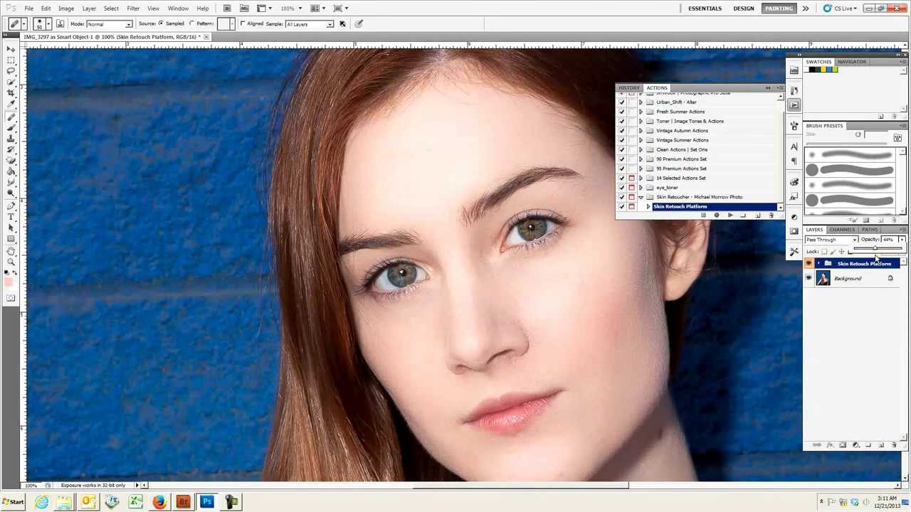 how to retouch skin in photoshop cs3