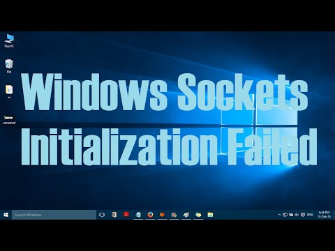 How to fix Windows Sockets Initialization failed error in Windows 10