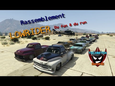 Rassemblement Lowrider sur GTA 5 Online (20 participants)