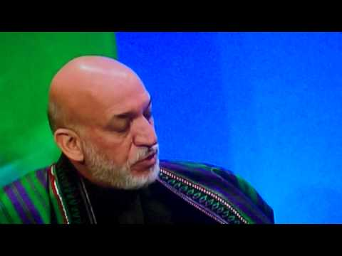 Afghan President Hamid Karzai Thanks President Barack Obama for Taxpayer's Money