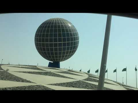 THE BIGGEST GLOBE IN THE WORLD #globe #earth #jeddaview #thebiggestglove #short #short video