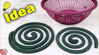 Best Craft Idea Out of Mosquito Coil    DIY Wall Hanging Making Using Basket    Handmade Craft Idea