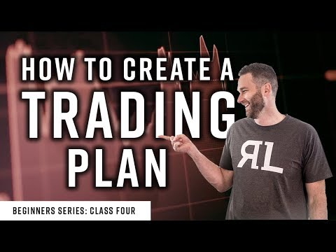 Real Life Trading: The Beginners Class #4 How to Create a Trading Plan