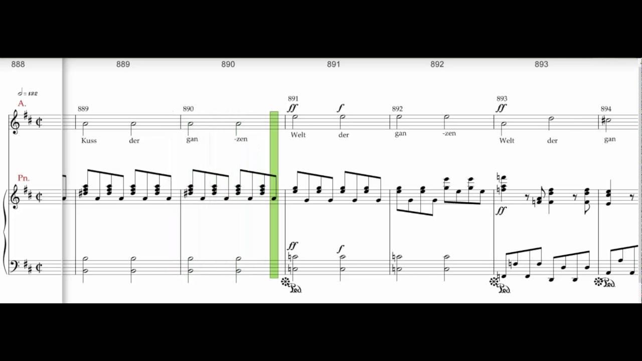 Beethoven 9th symphony, Presto 843-940 Alto