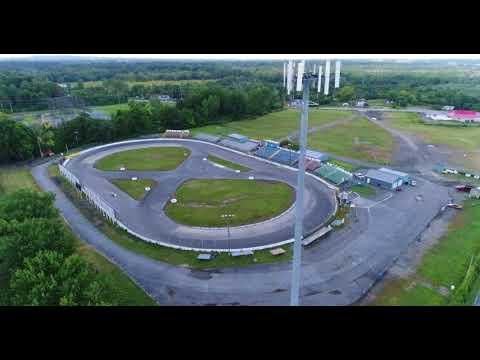 Aerial view of The Painesville Speedway