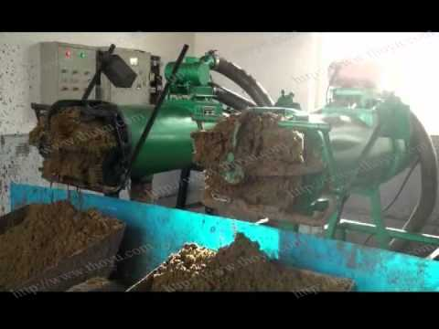 Working Video for screw press separator dealing with cow effluent or cattle slurry