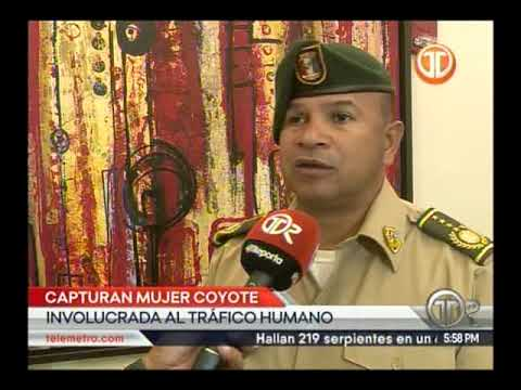 Telemetro  SENAFRONT captura a mujer  coyote  argentina que trataba de introducir extranjeros al paí