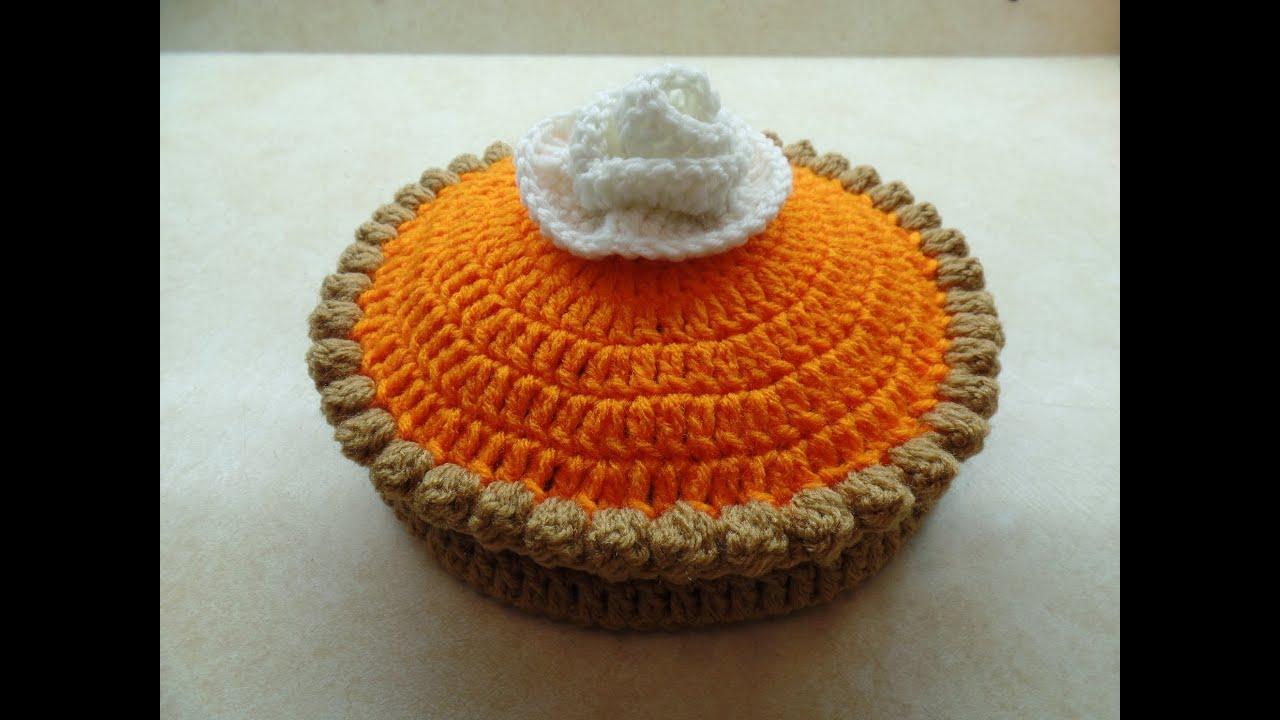 CROCHET How to #Crochet Full Size Pumpkin Pie #TUTORIAL #268 ...