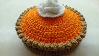 CROCHET How to #Crochet Full Size Pumpkin Pie #TUTORIAL #268 supersaver DYI