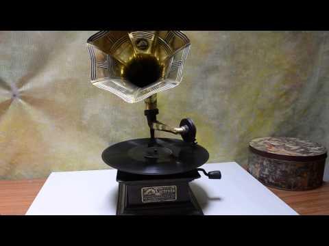 Vitrola / fonografo RCA VICTOR - disco de 78 rpm (réplica)