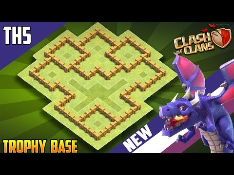 NEW Town Hall 5 (TH5) TROPHY/WAR Base Design 2018!! COC Best Th5 Trophy/War Base Layout