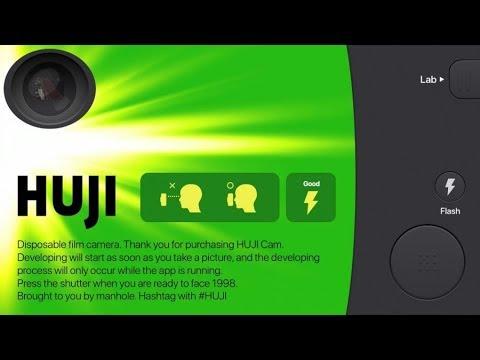 Huji Cam как сделать камеру на весь экран
