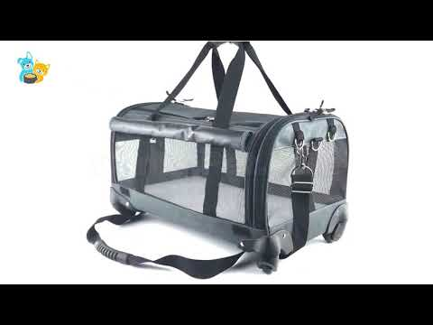 Custom Airline Approved Wheeled Pet Carrier with Wheel P425 – Canlin Pet