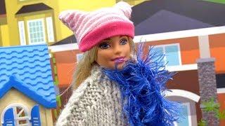 Маша и Барби выбирают зимнюю одежду. Приключения Барби - Мультики для девочек