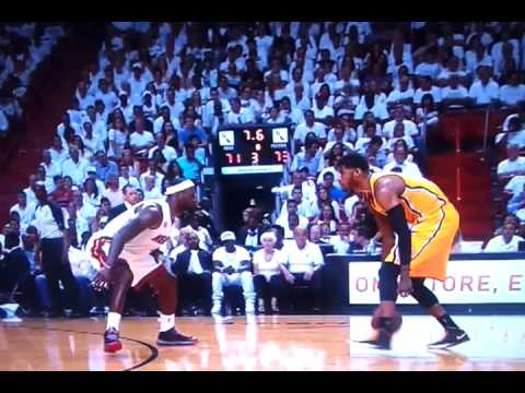 203fc5ed9f5 Paul George blow by Lebron James and POSTER Dunk on Chris Birdman Anderson