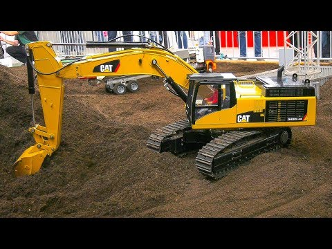 RC MODEL TRUCKS, RC MACHINES, RC DOZER, RC EXCAVATORS AT WORK ON CONSTRUCTION SITE!!