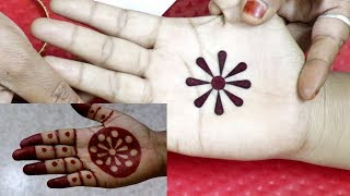 How To Apply Front Hand Mehndi Design With Bindi | Easy Bindi Trick Mehndi Designs