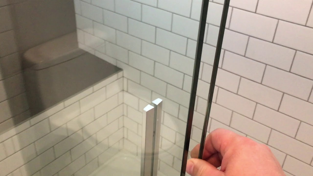 Kohler Levity Semi-Frameless Shower Door - YouTube