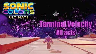 Sonic Colors Ultimate en Español (PC) - Terminal Velocity All Acts + Boos Gameplay - No comentado