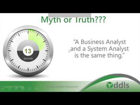 Webinar: Myth Busting the role of the Business Analyst