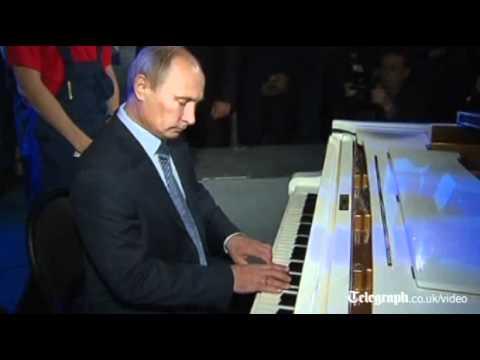 Vladimir Putin plays
