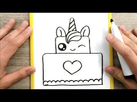 Come Disegnare Una Torta Unicorno Kawaii Disegni Facili