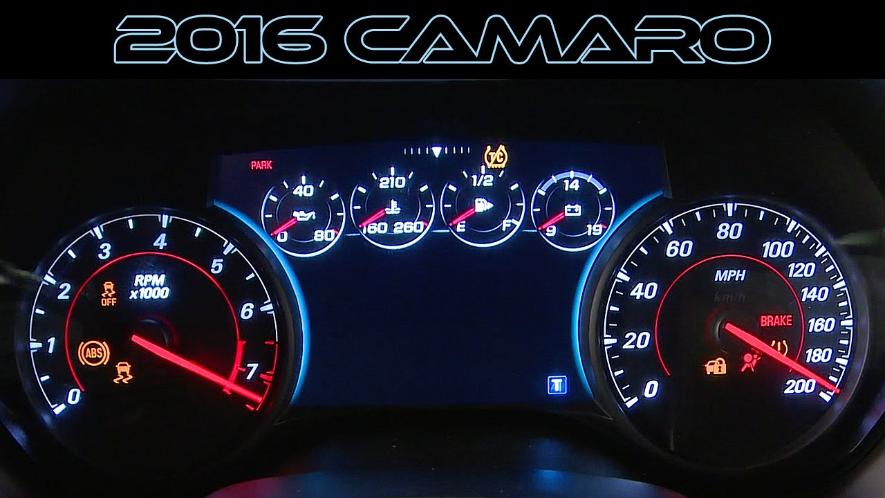 2016 Chevrolet Camaro Ss Rs Generation 6 Interior Design Youtube