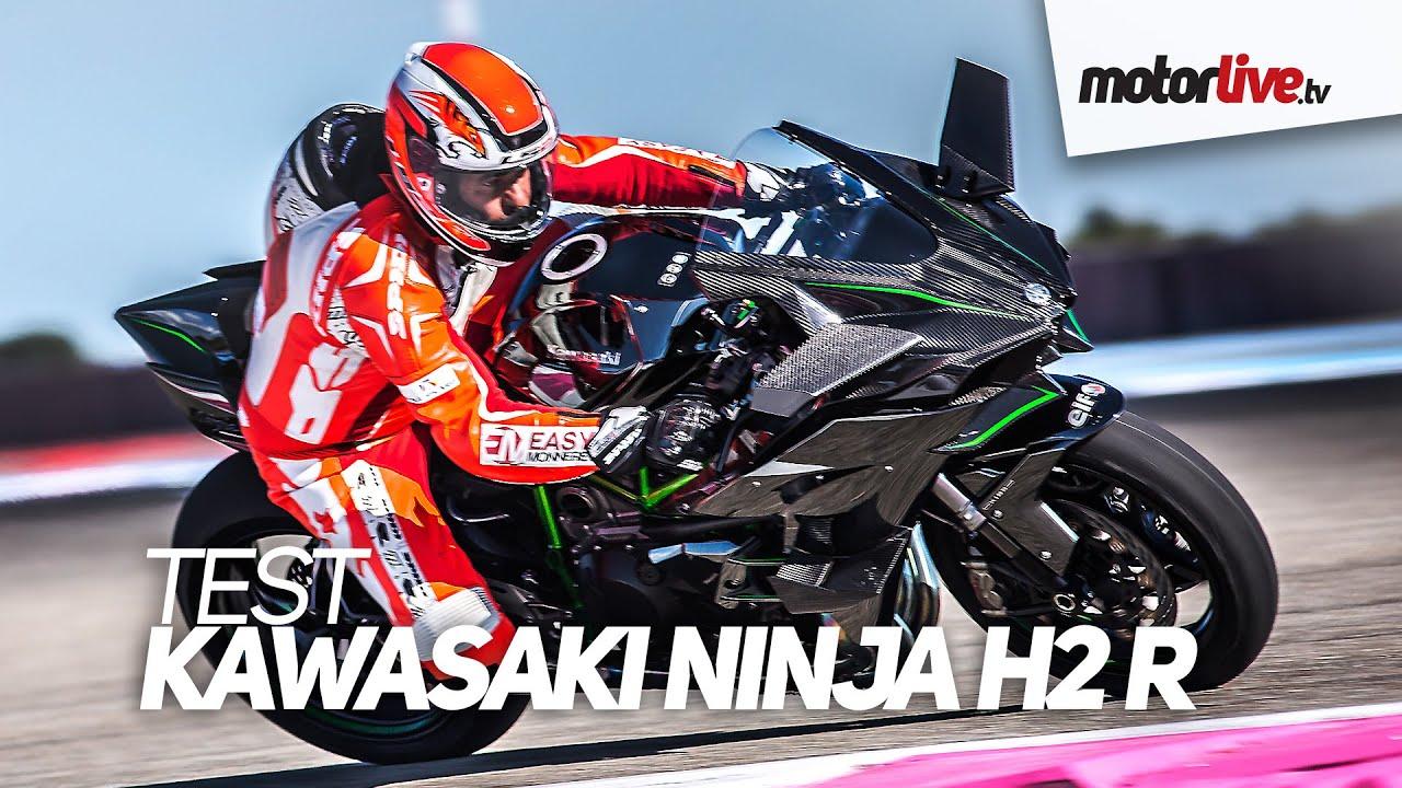 Test Kawasaki H2 R Ninja à 357 Kmh Record Au Paul Ricard Youtube