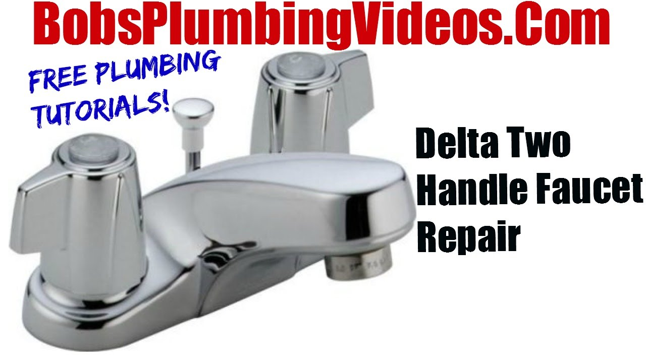 Delta Faucet Cartridge Faucet Repair YouTube - Delta kitchen faucet repair two handle