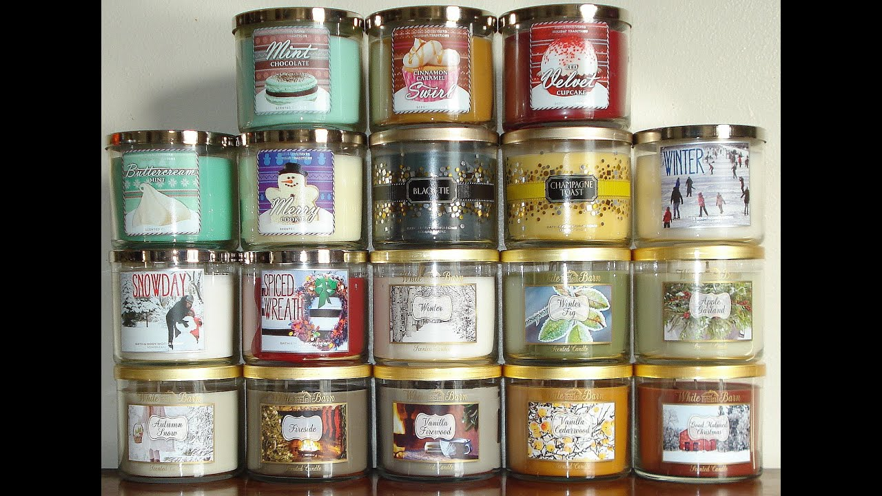 Bath and body works holiday scents - Bath And Body Works Candle Haul Review Pt 1 2013 Winter Holiday Test Scent Candles Collection Youtube