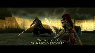 Magic armor Link vs. Ganon Twilight Princess all fights