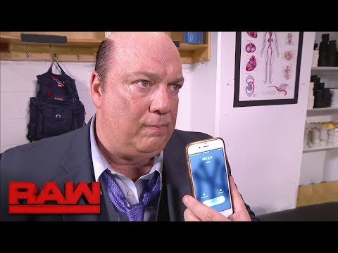 Paul Heyman advises Brock Lesnar to return to Raw: Raw, June 5, 2017
