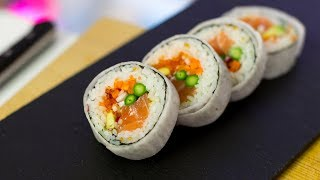 Futomaki Sushi Roll Recipe - How to Make Sushi