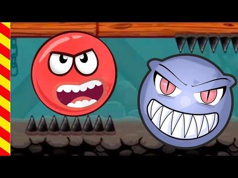 Красный шар против злых квадратов. Игры для мальчиков про несносный красный шар