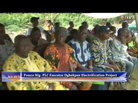 Presco Nig. Plc Executes Ogbekpen Electrification Project
