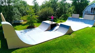 MY BRAND NEW $63,578 BACKYARD SKATEPARK!!!