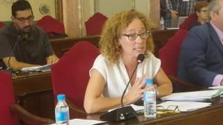 Pleno Murcia. Alicia Morales alerta de que el PP quiere reclasificar terrenos protegidos