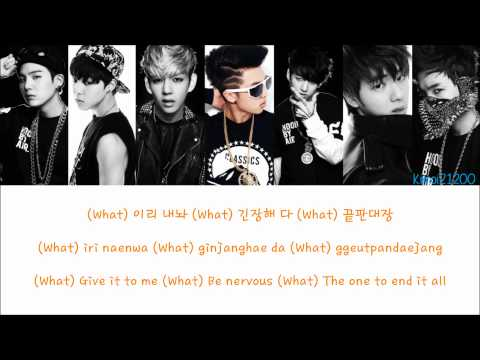 BTS (Bangtan Boys) - Bulletproof [Hangul/Romanization/English] Color & Picture Coded HD Mp3