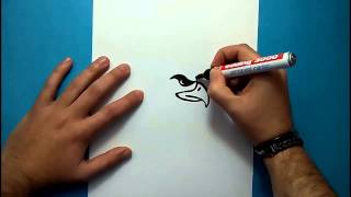 Como dibujar un aguila paso a paso 4 | How to draw an eagle 4