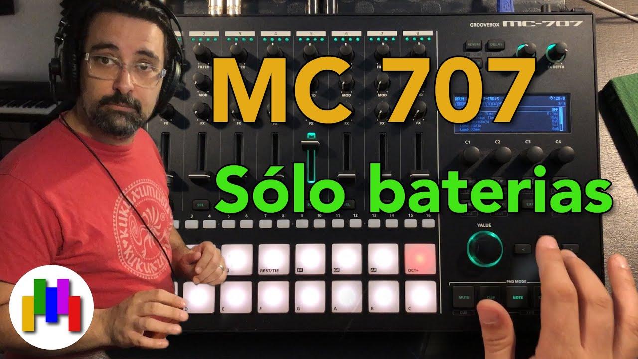 MC 707 Solo baterias - Tutorial en Español