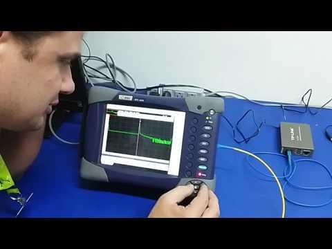 Medição com OTDR em fibra ativa.