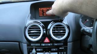 Vauxhall / Opel Hidden Temperature, Battery Voltage, Remaining fuel Display thumbnail