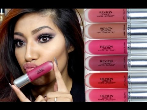 New Revlon Ultra Hd Matte Lipcolor Lipswatches 6 Shades